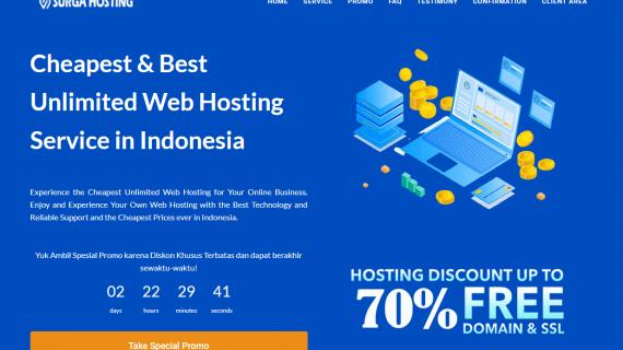 Surga Hosting – Web Hosting Unlimited Termurah